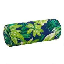 Palm Leaves Indoor/Outdoor Lumbar Roll Pillow