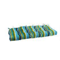 Blue/Green Stripes Indoor/Outdoor Double-U Seat Pad