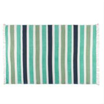 Coastal Living Seascapes™ Blue/Teal/Green Striped Chindi Area Rug