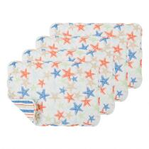 Red/White/Blue Starfish Quilted Placemats, Set of 4