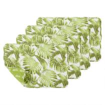 Palm Leaves Quilted Placemats, Set of 4