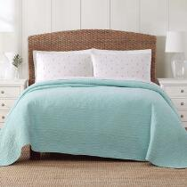 Coastal Living Seascapes™ Aqua Pineapple Quilt