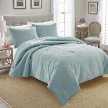Coastal Aqua Shells Comforter Set, 3-Piece