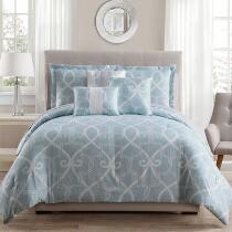 Sandra Geo Scroll Comforter Set, 10-Piece
