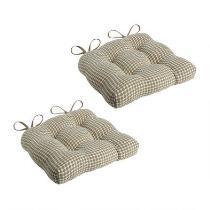 Tan Lattice Seat Pads, Set of 2