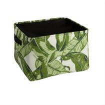 Coastal Living Seascapes™ Green Palm Leaves Storage Tote