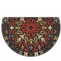 """Mohawk Home 23""""x35"""" Red Medallion Slice Door Mat"""