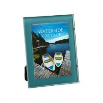 """5""""x7"""" Blue Glass Picture Frame"""