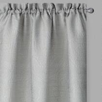 Perfect Window Silver Oxana Window Curtains, Set of 2