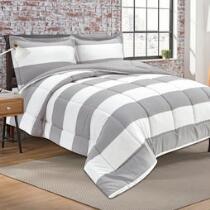 Yarn-Dyed Striped Comforter Set, 3-Piece