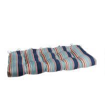 Alfresco™ Blue Striped Indoor/Outdoor Double-U Seat Pad