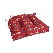 Alfresco™ Red Anchor Indoor/Outdoor Single-U Seat Pad