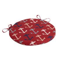 Alfresco™ Red Anchor Indoor/Outdoor Round Bistro Seat Pad