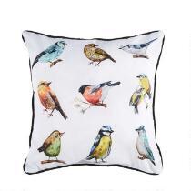 """17"""" Birds Indoor/Outdoor Oblong Throw Pillow"""