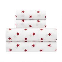 Red Stars Nautical Sheet Set