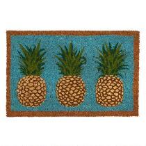 """18""""x28"""" 3 Pineapples Coir Door Mat"""