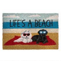 """18""""x28"""" Life's A Beach"""" Coir Door Mat"""