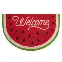 """18""""x28"""" """"Welcome"""" Watermelon Slice Coir Door Mat"""