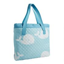 Oversized Blue Whales Beach Blanket and Tote