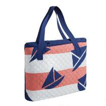 Oversized Red/White Sailboat Beach Blanket and Tote