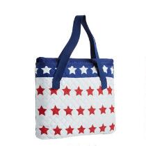 Oversized Blue/White Stars Beach Blanket and Tote