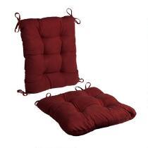 Faux Suede Rocking Chair Cushion Set, 2-Piece