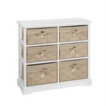 Sara Starfish 6-Basket Cabinet