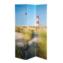 Coastal Lighthouse 3-Panel Room Divider