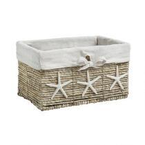 Starfish Maize Rectangular Storage Basket with Lining
