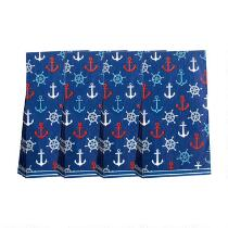 20-Piece Red/White/Blue Anchors Paper Napkins, Set of 4
