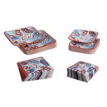 Patriotic Sandals Paper Goods Set