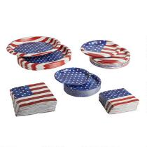 Stars and Stripes Paper Goods Set