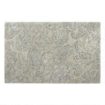 5'x8' Gray/Light Blue Paisley Wool Area Rug