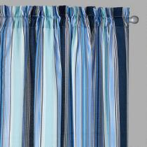 Traditions by Waverly® Blue Striped Window Curtains, Set of 2