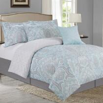 Turquoise Mineral Comforter Set, 5-Piece