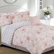 Blush Floral Comforter Set, 5-Piece