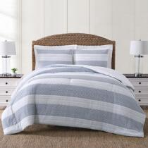 Coastal Living Seascapes™ Gray Stripe Comforter Set
