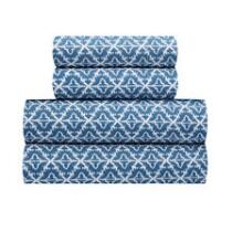 Coastal Living Seascapes™ Blue Geometric Print Cotton Sheet Set