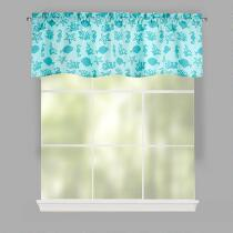 Teal Shell Window Valances, Set of 2