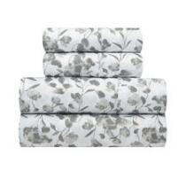 Richmond Gray Flowers Microfiber Sheet Set