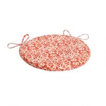 Damask Indoor/Outdoor Round Bistro Seat Pad