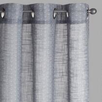 Gray Shells Slub Window Curtains, Set of 2