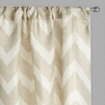 Tan Chevron Window Curtains, Set of 2
