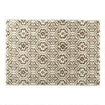 5'x7' Beige Strato Floral Tile Area Rug