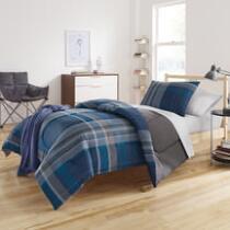 Blake Plaid Twin XL Comforter Set, 6-Piece
