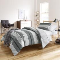 Kyle Striped Twin XL Comforter Set, 6-Piece