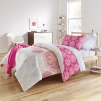 Brianne Pink Medallion Twin XL Comforter Set, 6-Piece