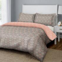 Dreamluxe Coral Floral Medallion Reversible Complete Bed Set