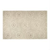 5'x8' Blush/Gray Medallion Wool Area Rug