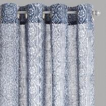 Gray Xinnia Window Curtains, Set of 2